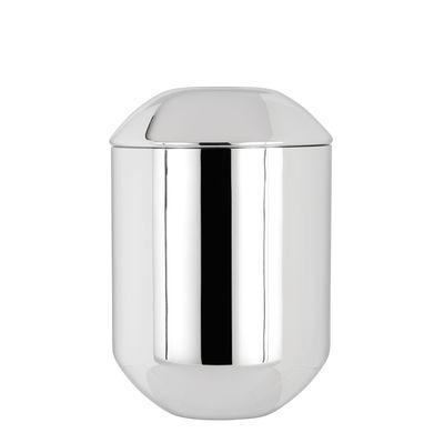 Boîte à thé Caddy / Ø 8,5 x H 12,5 cm - Tom Dixon acier poli en métal