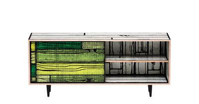 Buffet Wrongwoods / L 150 cm - Established & Sons blanc,vert en bois