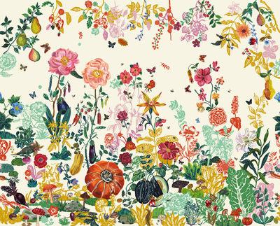 Interni - Sticker - Carta da parati panoramica Jardin - / Panoramica - 8 strisce di Domestic - Giardino crema - Tessuto non tessuto