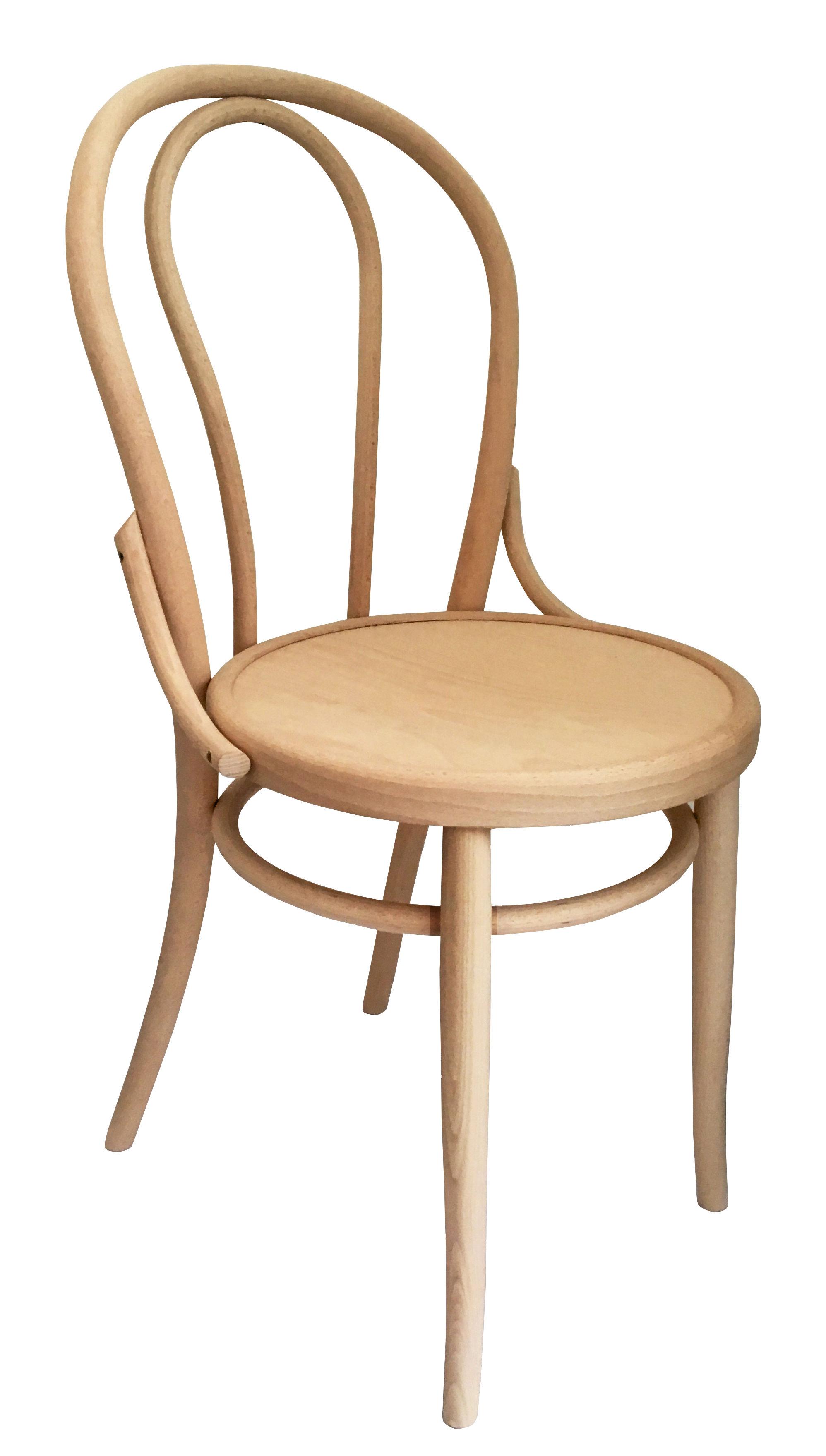 Mobilier - Chaises, fauteuils de salle à manger - Chaise N° 18 / Réédition 1876 - Wiener GTV Design - Bois naturel - Contreplaqué de hêtre, Hêtre massif cintré