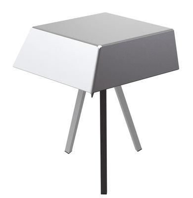 Guéridon Kuban / H 60 cm - Matière Grise blanc,gris,anthracite en métal