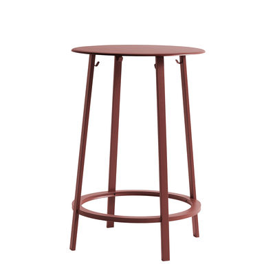 Furniture - High Tables - Revolver High table - / Ø 70 x H 105 cm - Metal by Hay - Red - Steel xith epowy paint