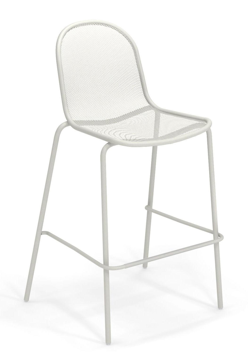 Möbel - Barhocker - Nova Hochstuhl / Metall - H 72 cm - Emu - Weiß - gefirnister Stahl