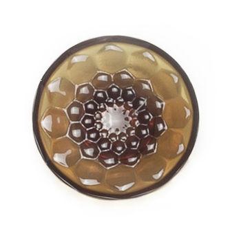Furniture - Coat Racks & Pegs - Jellies Family Hook - M - Ø 13 x H 6 cm by Kartell - Amber - PMMA