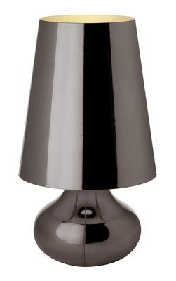 Illuminazione - Lampade da tavolo - Lampada da tavolo Cindy di Kartell - Platino - Tecnopolimero metallizzato