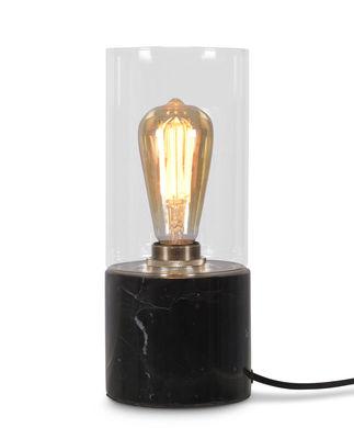 Lampe de table Athens / Marbre & verre - It's about Romi noir,transparent en verre