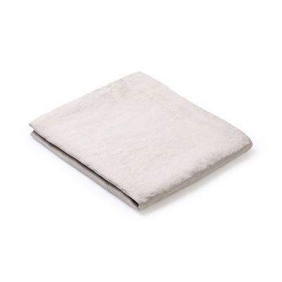 Nappe en tissu / 160 x 250 cm - Lin traité TEFLON®anti-tache - Au Printemps Paris beige en tissu