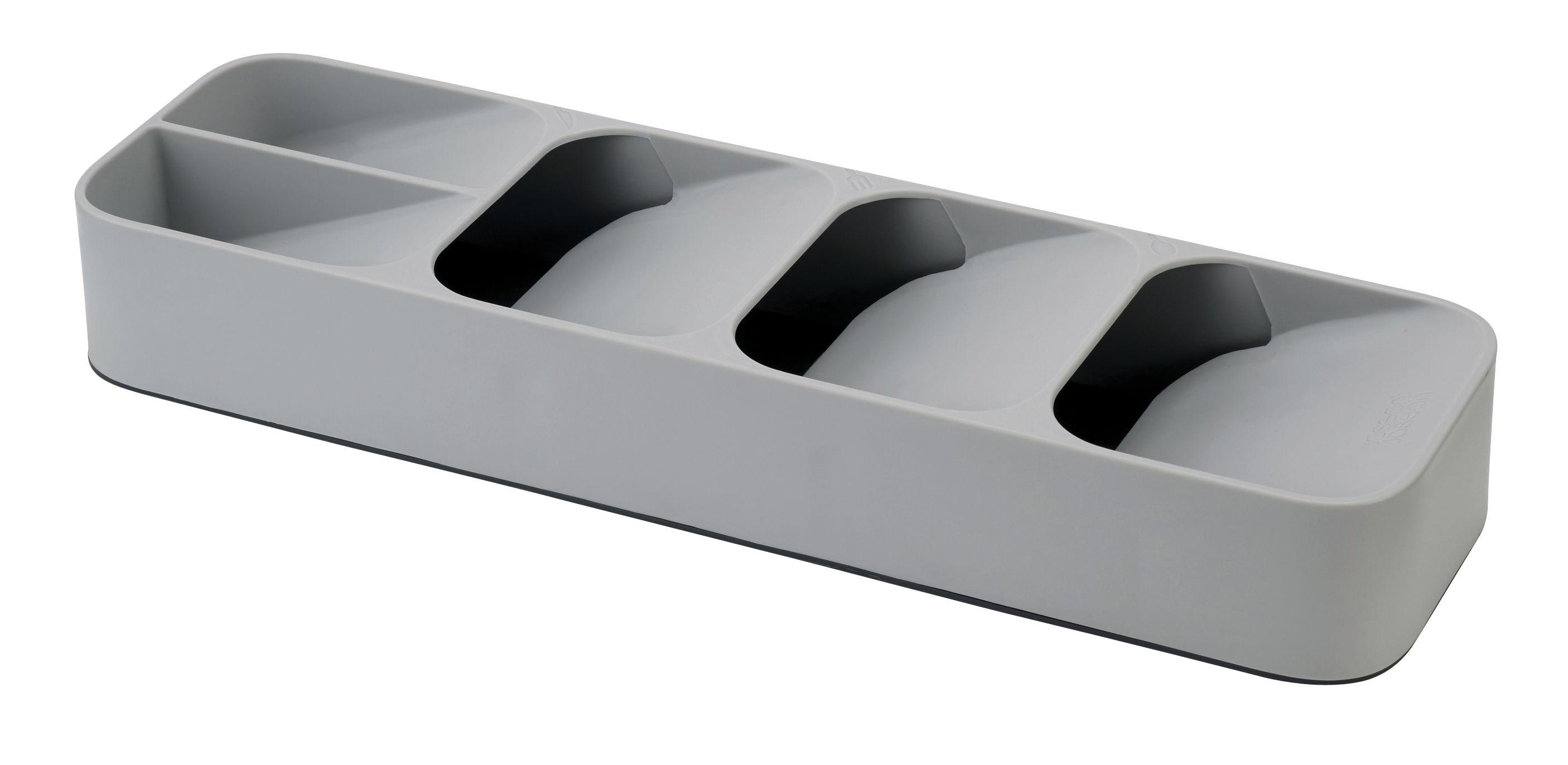 Cucina - Pulizia - Organizzatore per ustensili Compact - / 5 scomparti - Per cassetto di Joseph Joseph - Grigio - Plastica