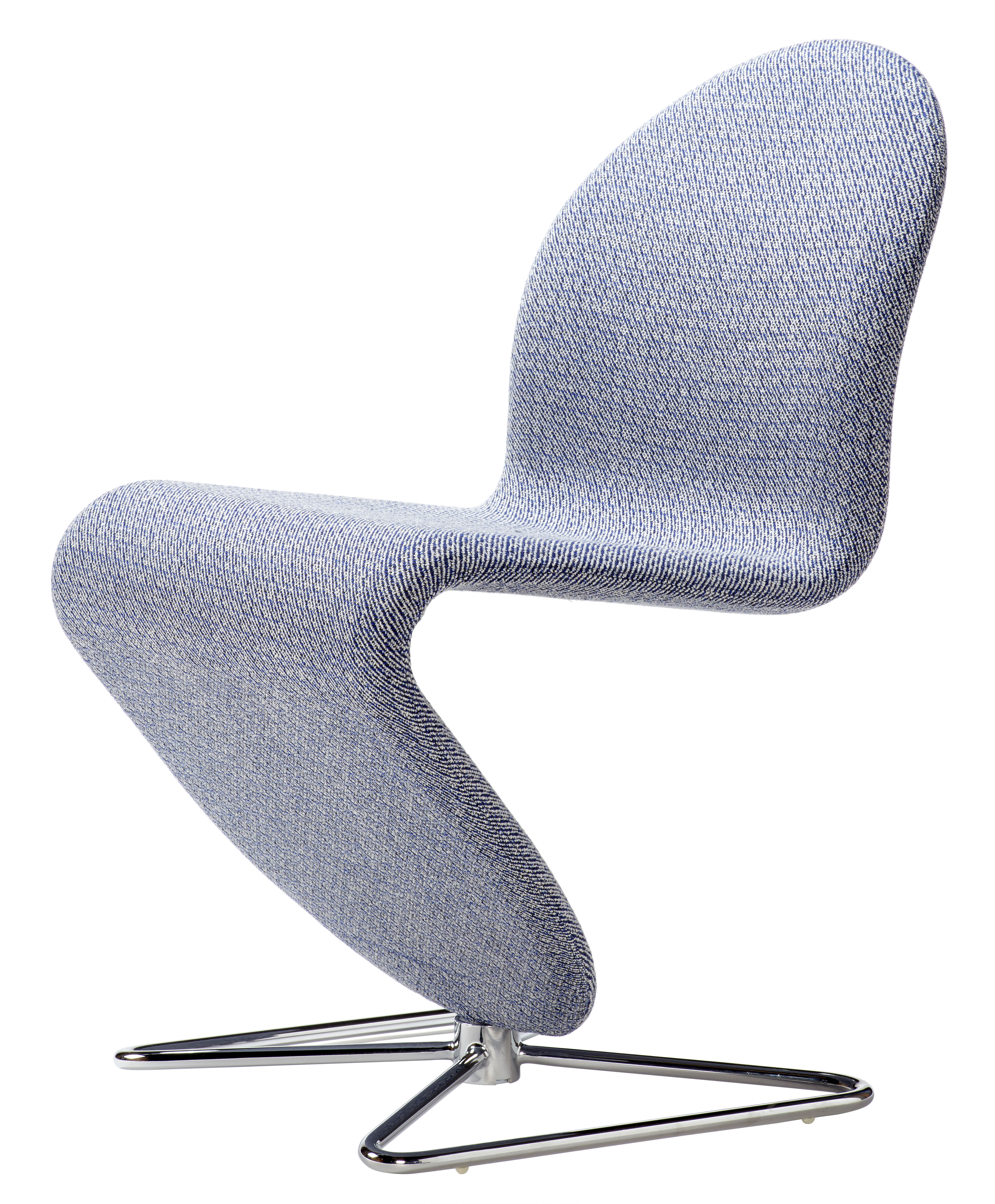 Furniture - Chairs - 123 Padded chair - Raf Simons fabric by Verpan - Noise grey - Chromed steel, Foam, Kvadrat fabric