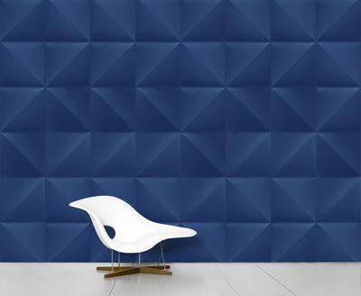 Papier peint panoramique Floating / 8 lés - L 372 cm x H 300 cm - Domestic bleu foncé en papier