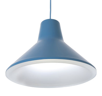 Lighting - Pendant Lighting - Archetype Pendant - LED by Luceplan - Light blue - Lacquered aluminium, Polycarbonate
