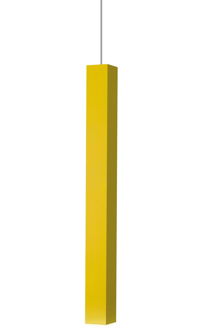 Leuchten - Pendelleuchten - Miyako Pendelleuchte LED-Version - Danese Light - LED - Gelb - bemaltes Aluminium