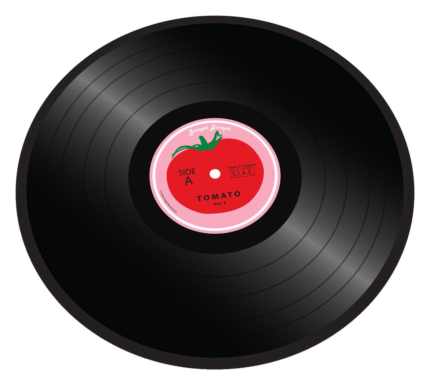 Arts de la table - Plateaux - Planche à découper Tomato vinyl / Plateau verre - Ø 30 cm - Joseph Joseph - Tomato Vinyl - Verre