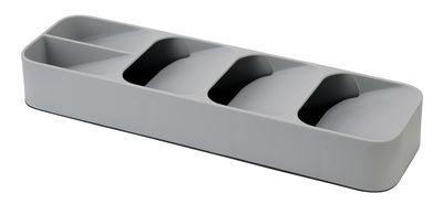 Cuisine - Vaisselle et nettoyage - Range-couverts Compact / 5 compartiments - Pour tiroir - Joseph Joseph - Gris - Plastique