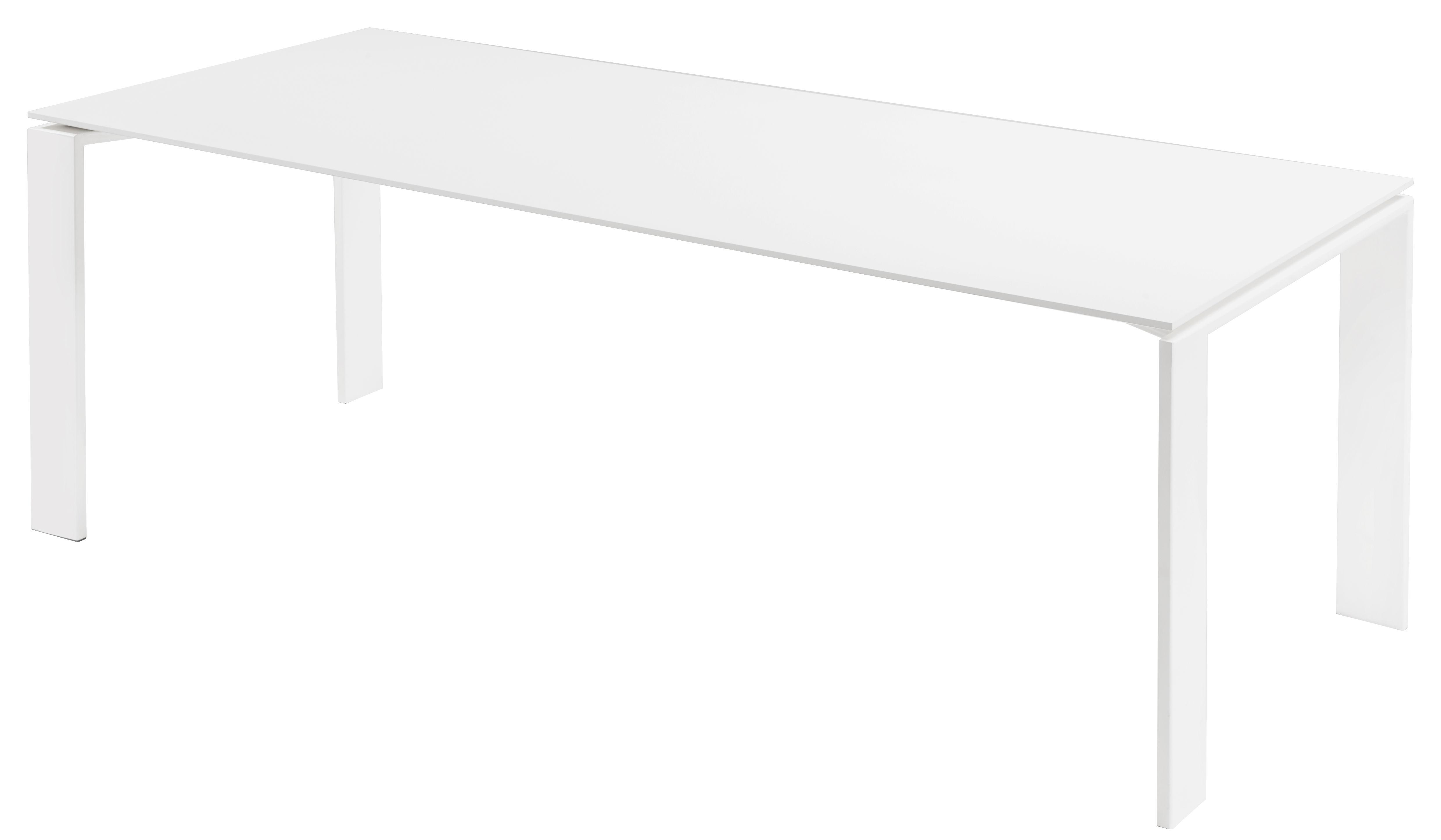 Outdoor - Tische - Four Outdoor rechteckiger Tisch / L 190 cm - Kartell - L 190 cm / Weiß - gefirnister Stahl