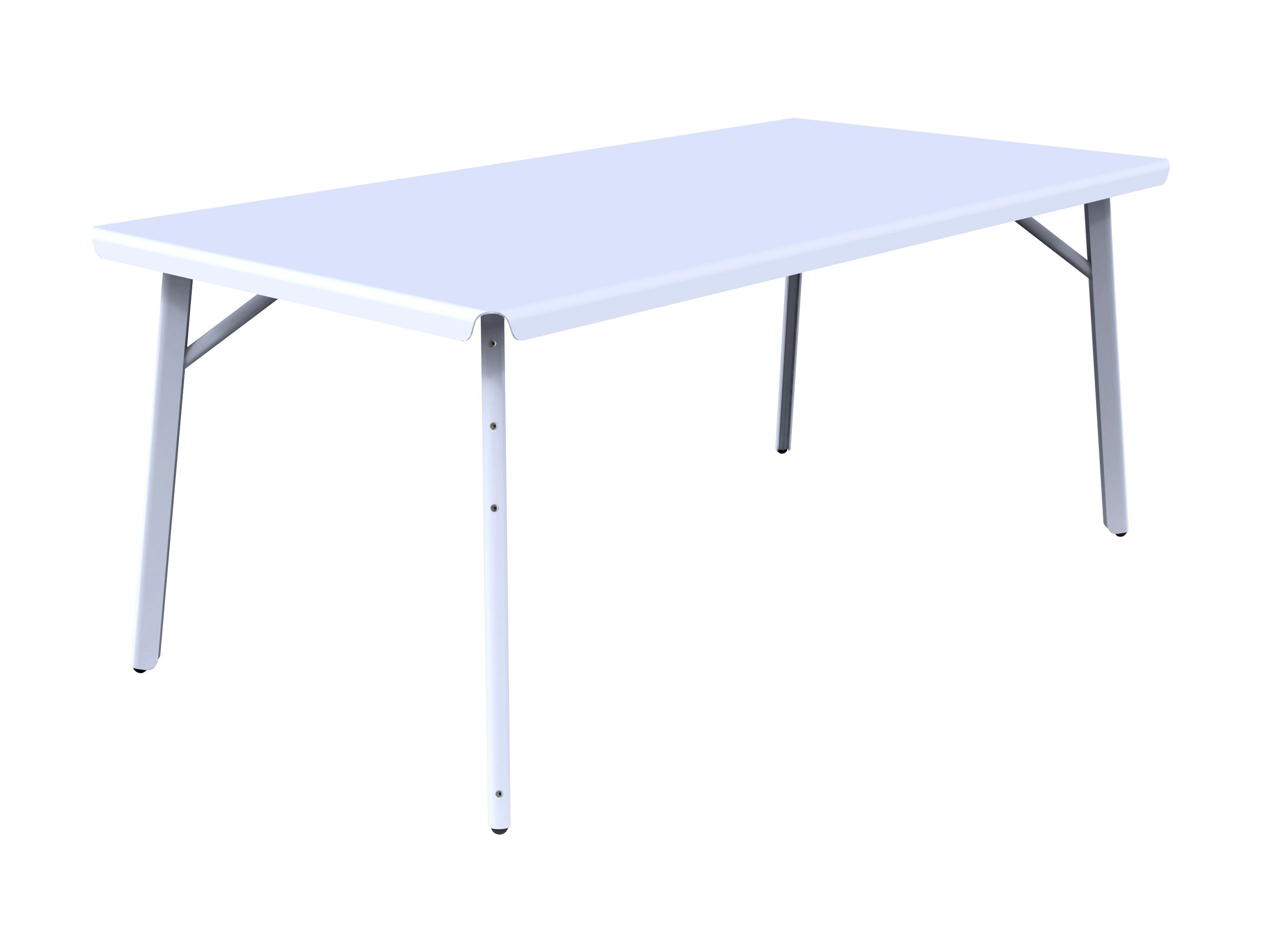 Outdoor - Garden Tables - Dakar Table rectangulaire - L 180 x W 90 cm by Skitsch - L 180 cm - White - Aluminium, Steel