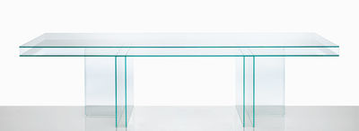 Furniture - Dining Tables - Verglas Rectangular table by Glas Italia - Transparent - Glass