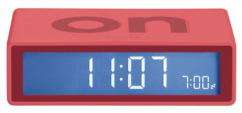 Accessoires - Réveils et radios - Réveil Flip LCD - Lexon - Vermillon - ABS, Gomme