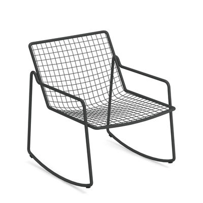 Furniture - Armchairs - Rio R50 Rocking chair - / Metal by Emu - Antique Iron - Steel