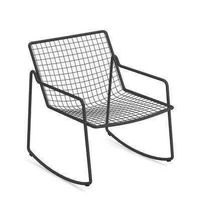 Arredamento - Poltrone design  - Rocking chair Rio R50 - / Metallo di Emu - Ferro Vecchio - Acciaio