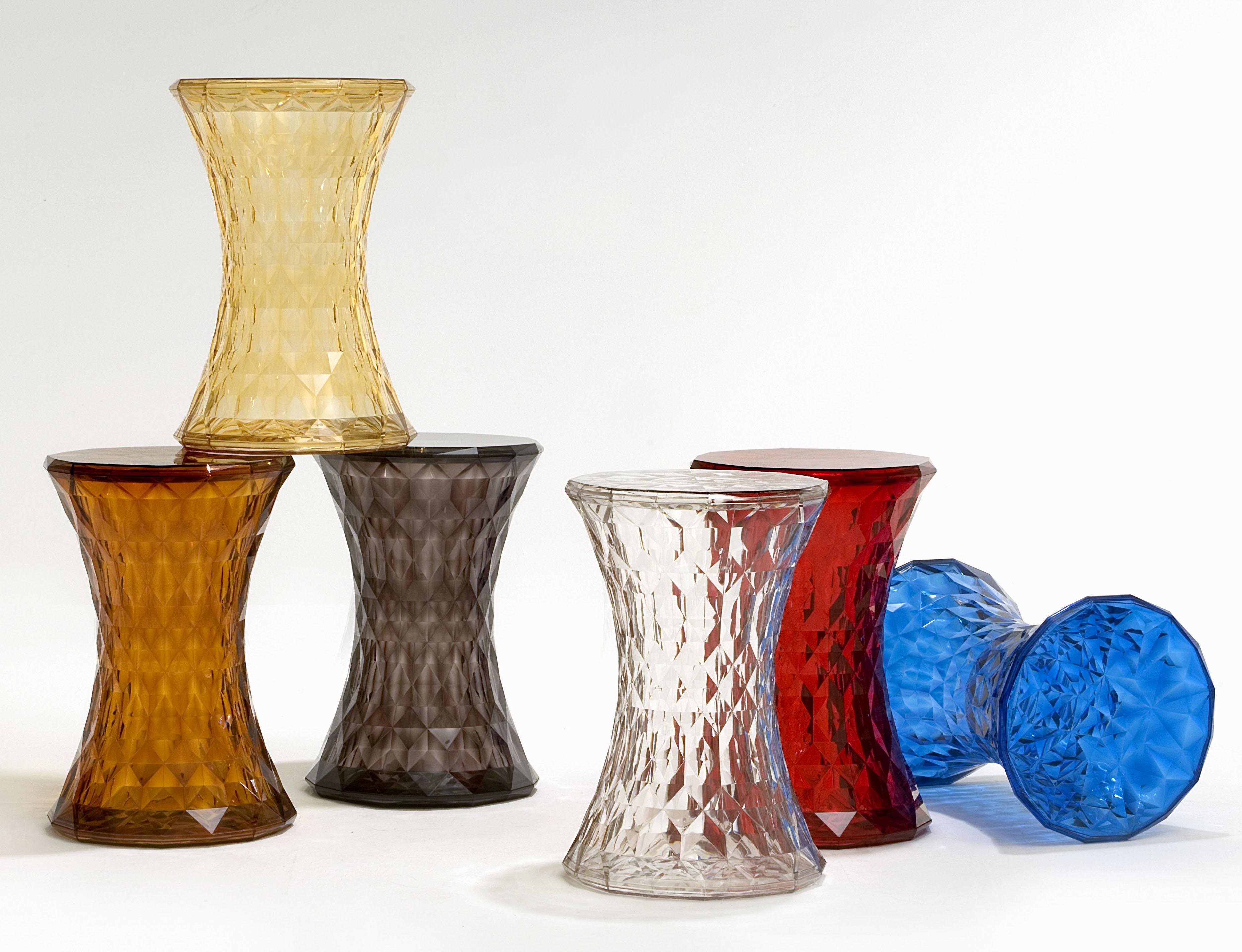 Scopri sgabellino stone trasparente di kartell made in design italia