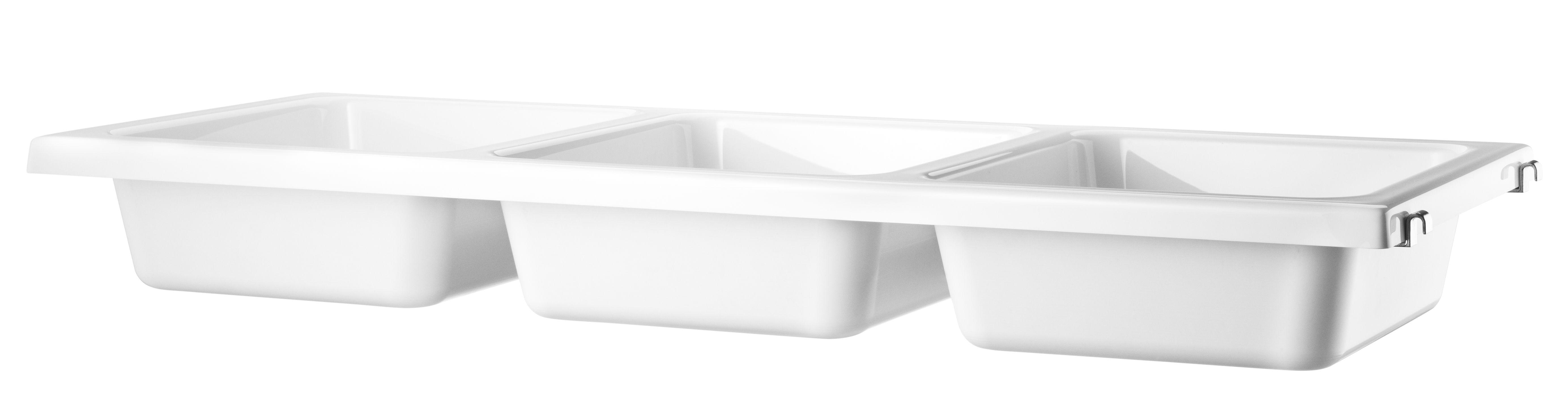 Furniture - Bookcases & Bookshelves - String System Shelf - / 3 bowls - L 78 cm by String Furniture - White - ABS