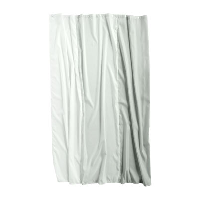 Accessories - Bathroom Accessories - Aquarelle Vertical Shower curtain - / 200 x 180 cm by Hay - Vertical strips / Green - Waterproof polyester