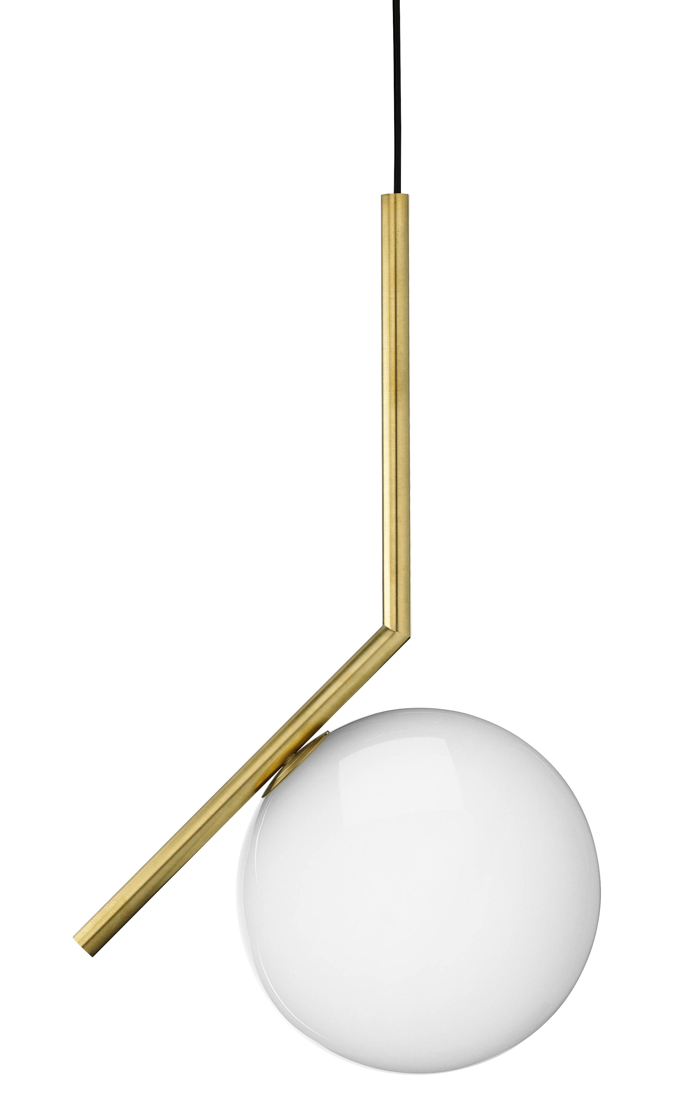 Illuminazione - Lampadari - Sospensione IC S1 - / H 48,2 cm di Flos - Ottone - Acciaio, vetro soffiato