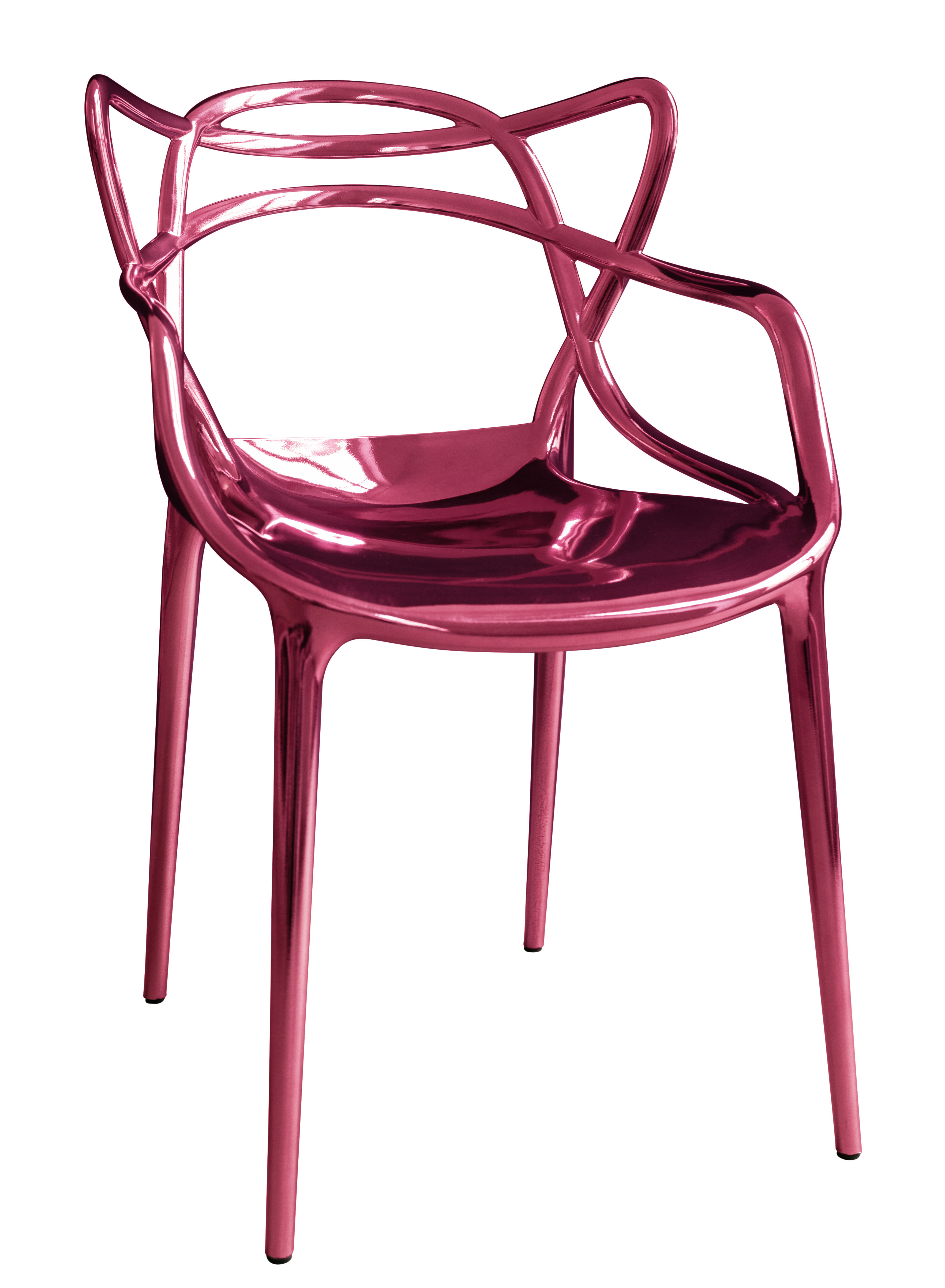 Furniture - Chairs - Masters Stackable armchair - / Metallic - 20 years of MID limited edition by Kartell - Metallic pink - Metallic ABS