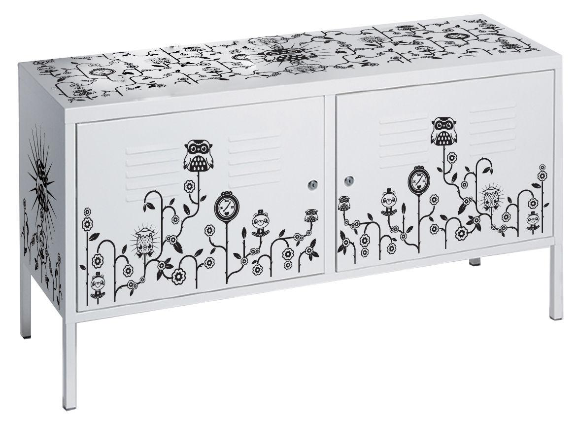 Déco - Stickers, papiers peints & posters - Sticker de meuble Par Tado / Pour commode - Domestic - Noir / Par Tado - Vinyle