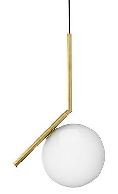 Luminaire - Suspensions - Suspension IC S1 / H 48,2 cm - Flos - Laiton - Acier, Verre soufflé