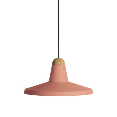 Suspension Tao / Ø 30 cm - Métal & liège - EASY LIGHT by Carpyen  liège,rose pêche en métal