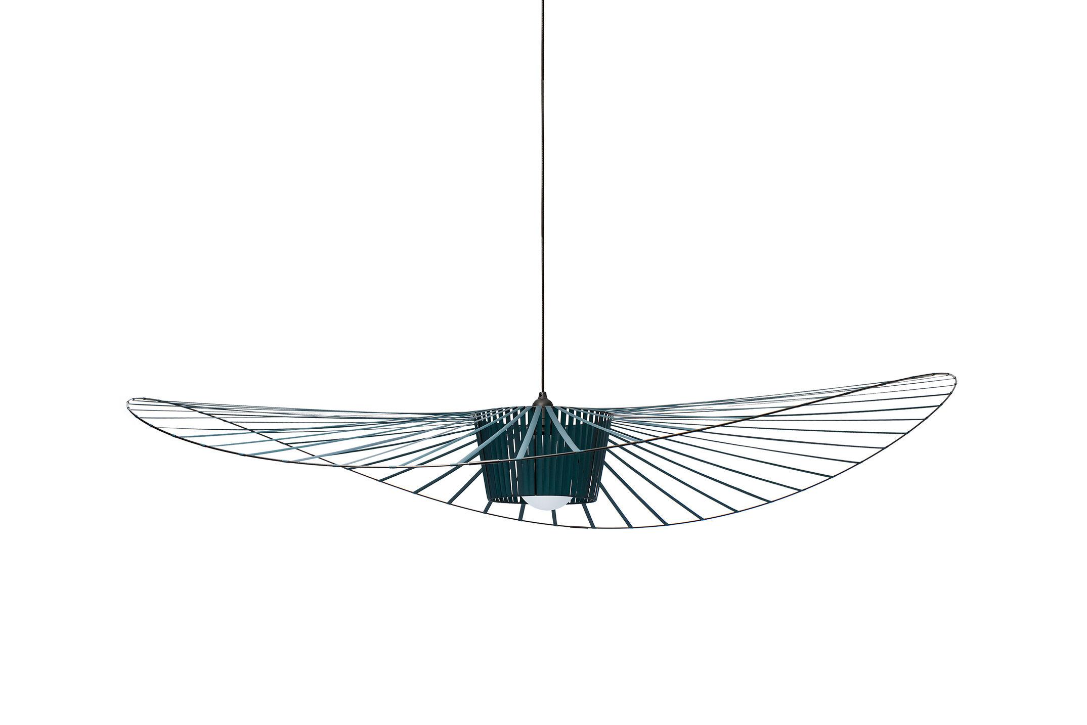 Luminaire - Suspensions - Suspension Vertigo Small / Ø 140 cm - Petite Friture - Vert-bleu - Fibre de verre, Polyuréthane