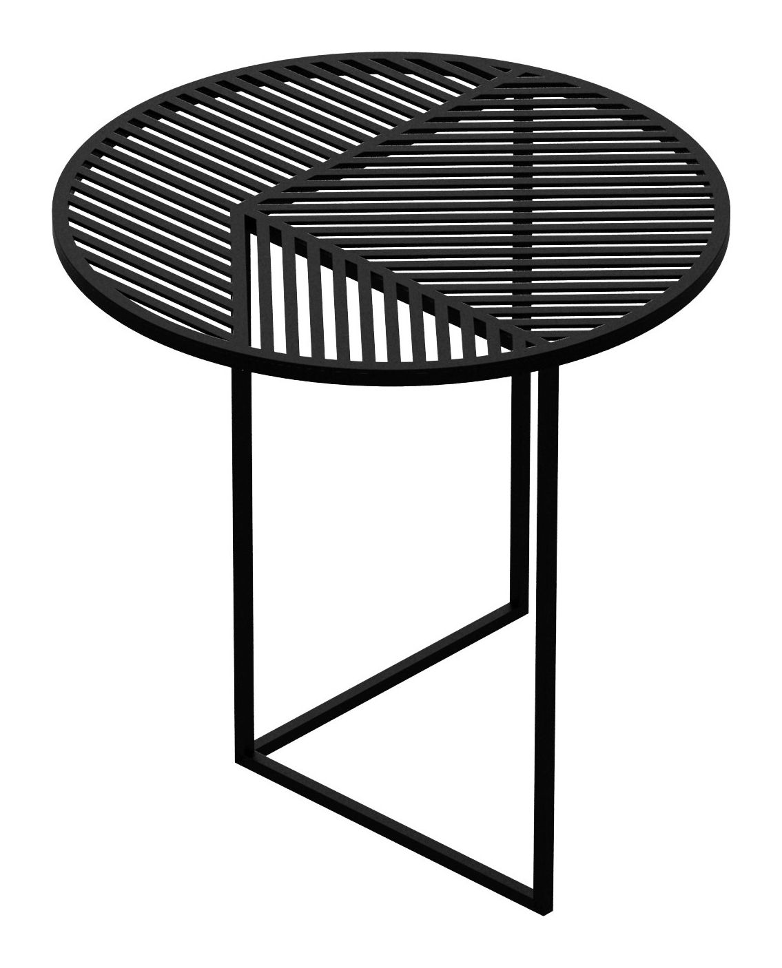 Mobilier - Tables basses - Table basse Iso-A / Ø 47 x H 44 cm - Petite Friture - Noir - Acier thermolaqué