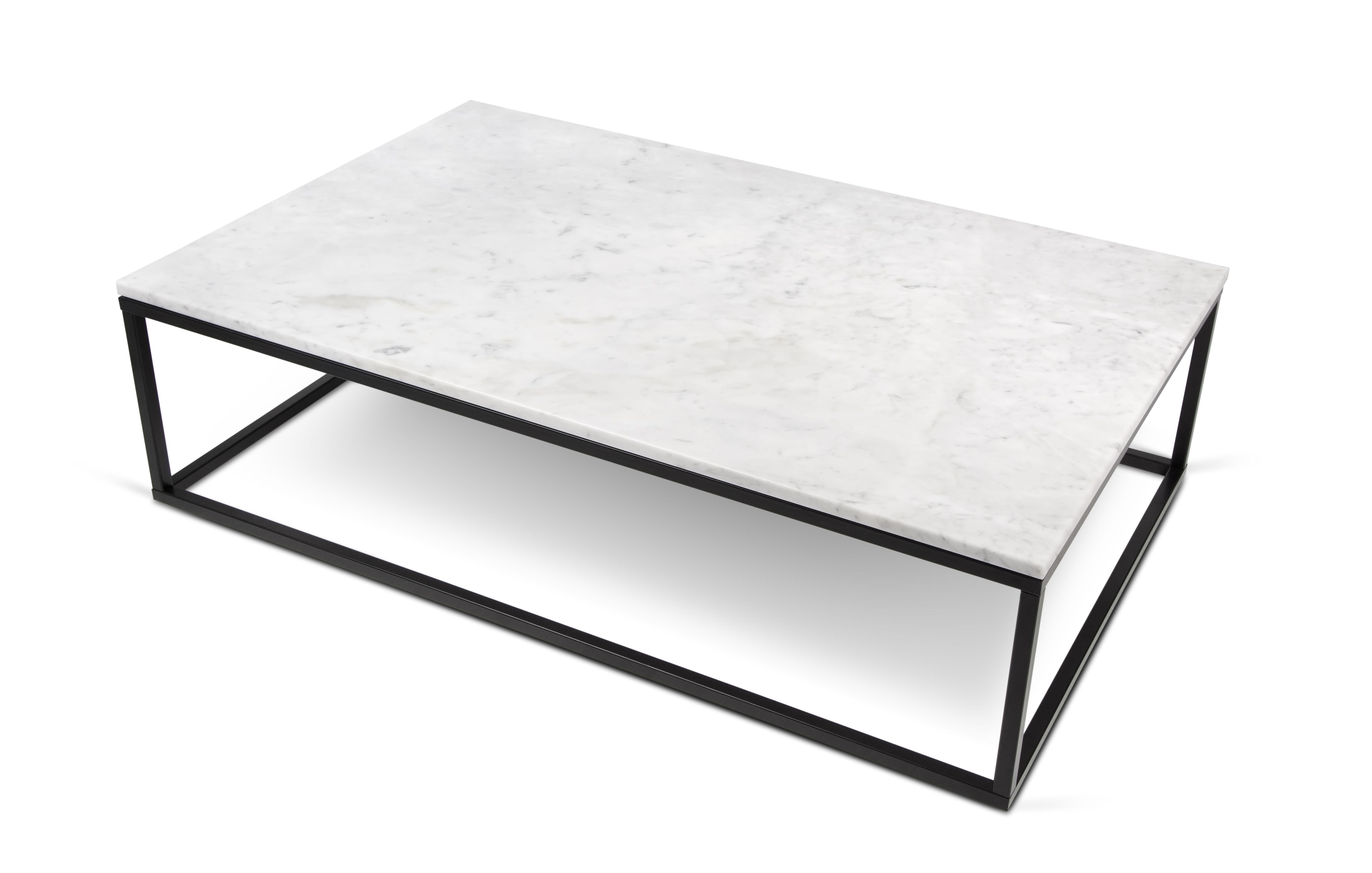 table basse marble pop up home marbre blanc pied noir 120 x 75 cm x h 35 cm epaisseur. Black Bedroom Furniture Sets. Home Design Ideas