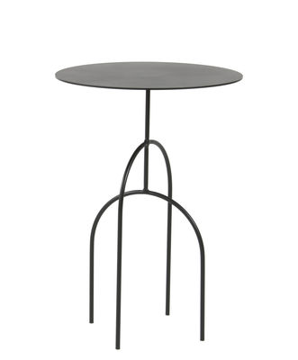 Table basse Moça / Ø 40 x H 58 cm - Objekto noir en métal
