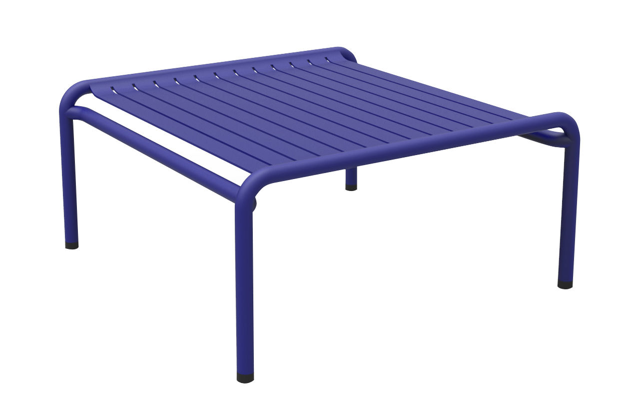 Mobilier - Tables basses - Table basse Week-end / 69 x 60 cm - Aluminium - Petite Friture - Bleu - Aluminium thermolaqué époxy
