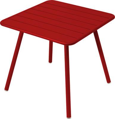 Table Luxembourg / 80 x 80 cm - 4 pieds - Fermob coquelicot en métal