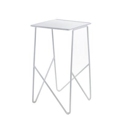 Table d'appoint Fish & Fish / 30 x 30 x H 55 cm - Métal perforé - Serax blanc en métal