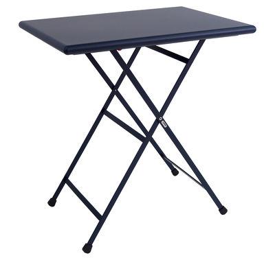 Table pliante Arc en Ciel / 70 x 50 cm - Emu bleu foncé en métal