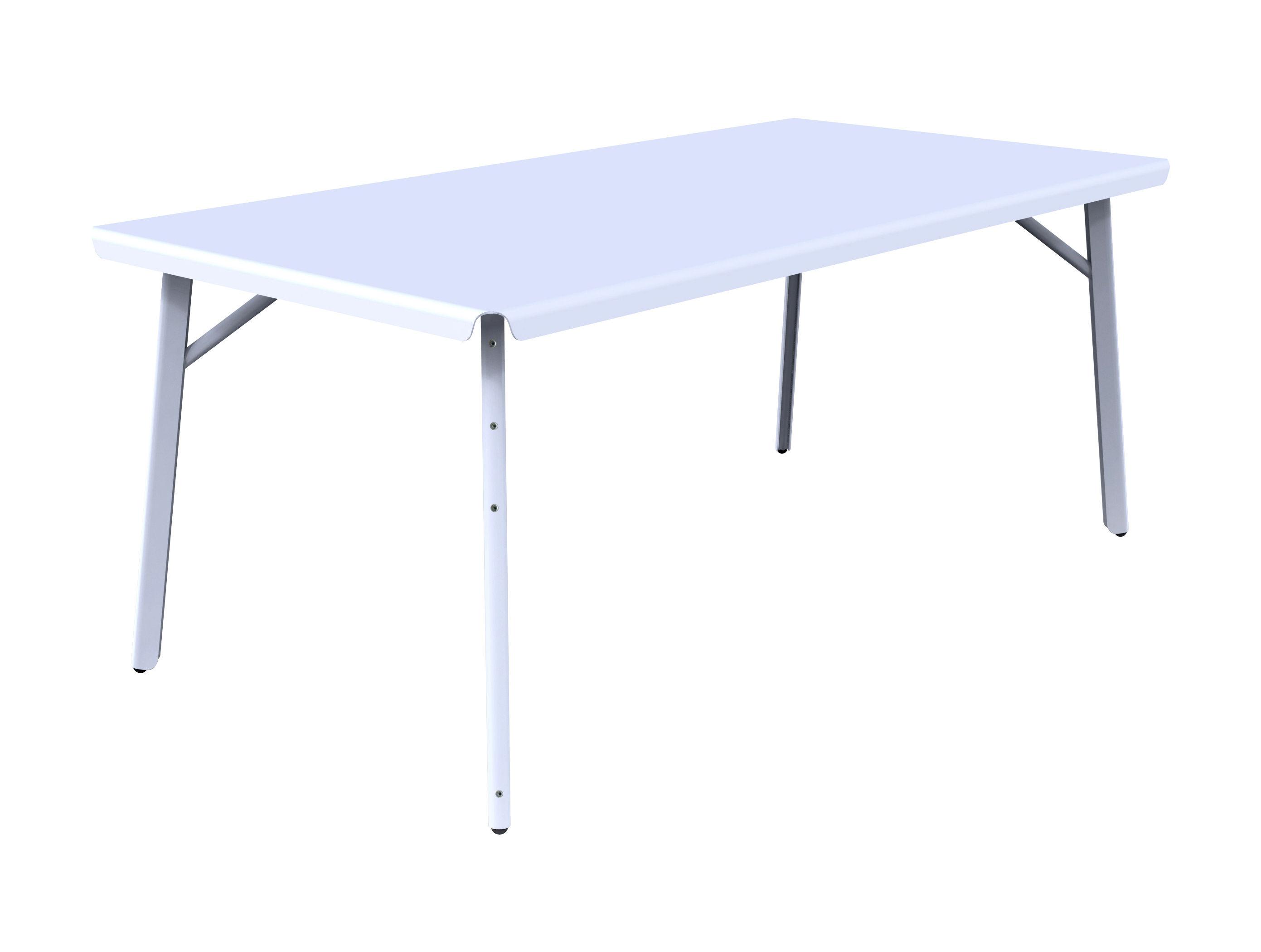 Jardin - Tables de jardin - Table rectangulaire Dakar / 180 x 90 cm - Skitsch - L 180 cm - Blanc - Acier, Aluminium