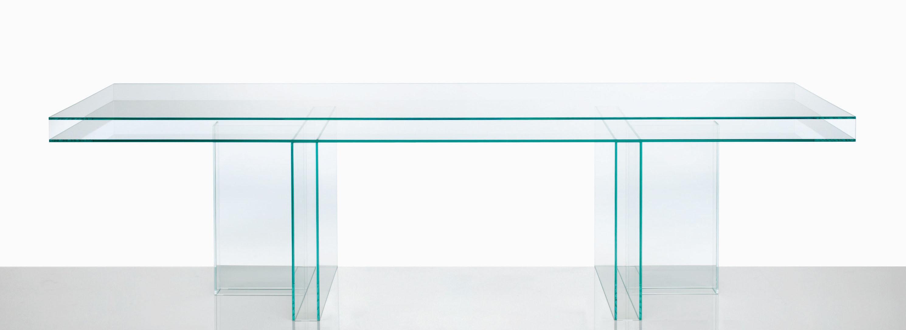 Mobilier - Tables - Table rectangulaire Verglas / 250 x 90 cm - Glas Italia - Transparent / 250 x 90 cm - Verre