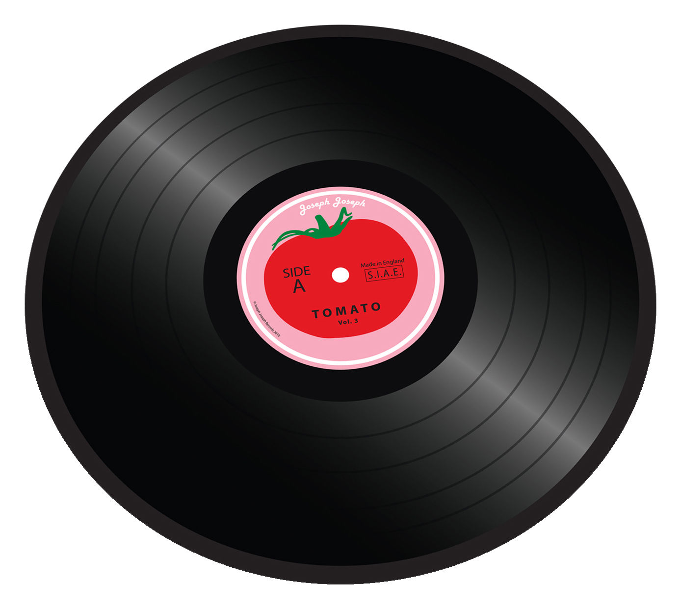 Tavola - Vassoi  - Tagliere Tomato vinyl - / sottopiatto di Joseph Joseph - Tomato Vinyl - Vetro