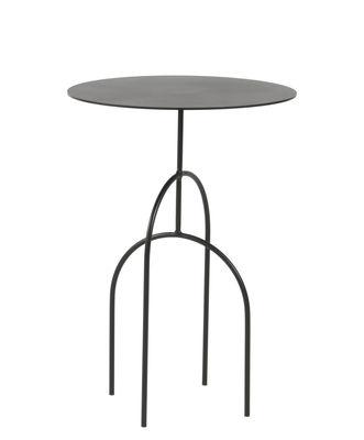 Image of Tavolino Moça - / Ø 40 x H 58 cm di Objekto - Nero - Metallo