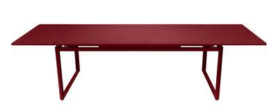 Outdoor - Tavoli  - Tavolo con prolunga Biarritz - L 200 a 300 cm di Fermob - Peperoncino - Acciaio laccato, Alluminio laccato