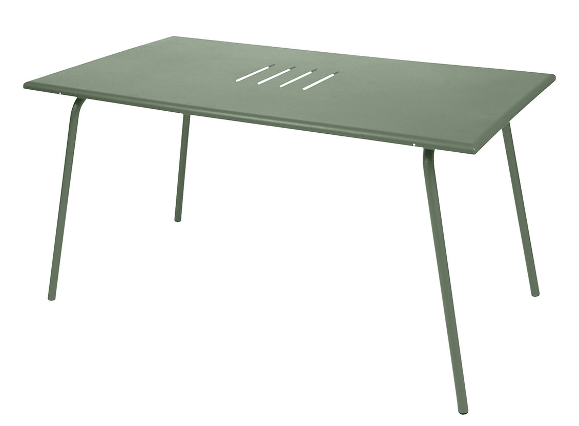 Outdoor - Tavoli  - Tavolo Monceau / 146 x 80 cm - 6 persone - Fermob - Cactus - Acciaio verniciato