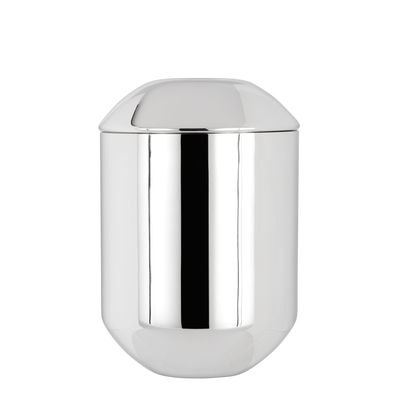 Tableware - Tea & Coffee Accessories - Caddy Tea box - / Ø 8.5 x H 12.5 cm by Tom Dixon - Polished steel - Polished stainless steel