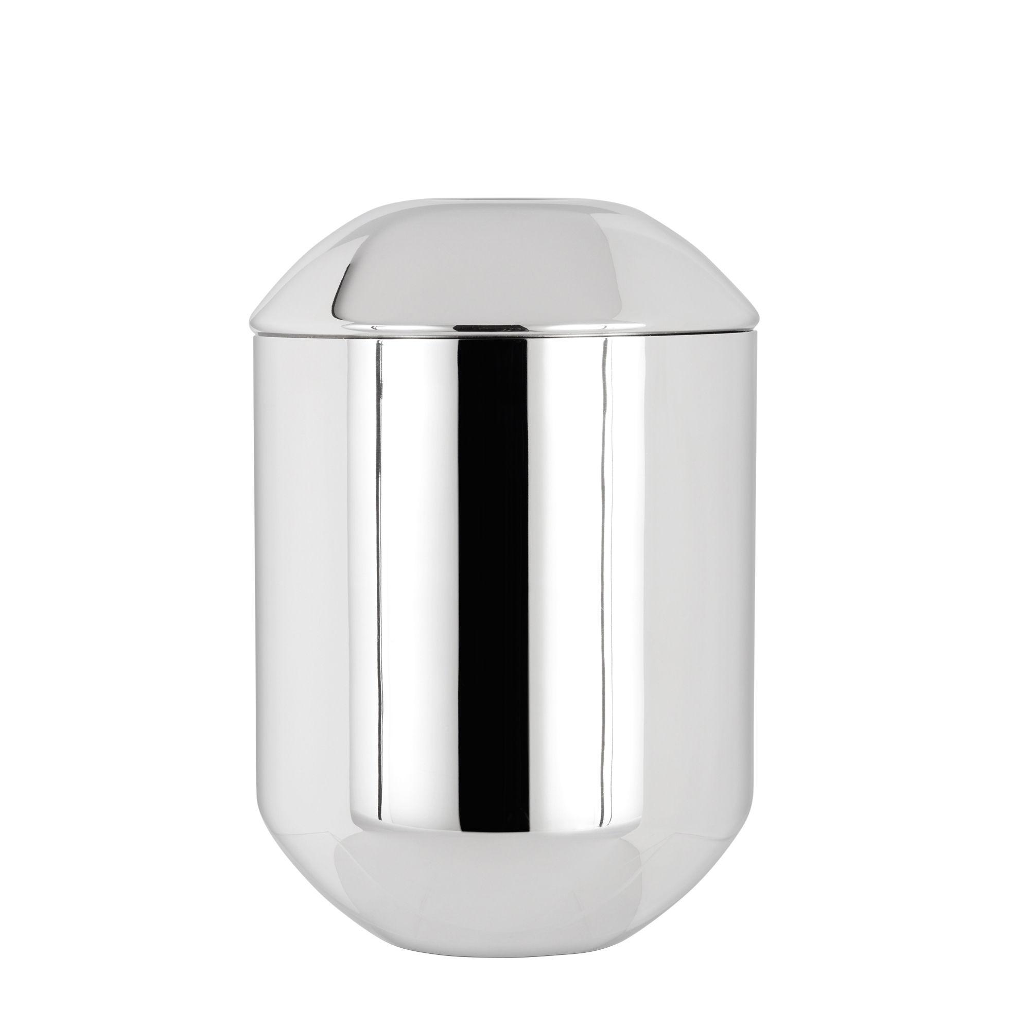 Tischkultur - Tee und Kaffee - Caddy Teedose / Ø 8,5 cm x H 12,5 cm - Tom Dixon - Edelstahl, poliert - polierter rostfreier Stahl