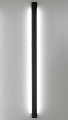 Lighting - Wall Lights - Pivot LED Wall light - L 112 cm by Fabbian - Anthracite - Painted aluminium