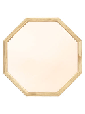 Decoration - Mirrors - Lust   Medium Wall mirror - / L 50 x H 50 cm by Normann Copenhagen - Gold mirror / Wood - Natural oak, Tinted glass